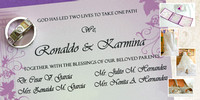 Karmina and Ronaldo's Wedding Designs!