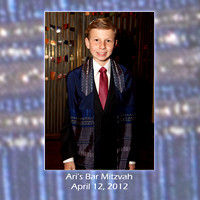 Ari's Bar Mitzvah album designs